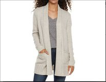 NWT Large Women's SONOMA Goods for Life Supersoft Shawl Cardigan Beige Gray Heather in Kingwood, Texas