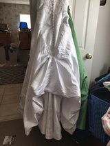 On Sale today $75.00 Wedding dress was in storage needs pressing asking 100.00 obo in Cherry Point, North Carolina
