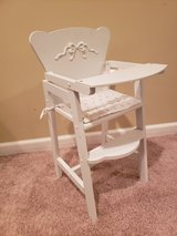 Doll-sized Wooden High Chair in Oswego, Illinois