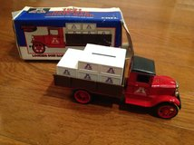 Big A Auto Parts 1931 Hawkeye Crate Bank die-cast metal locking coin bank with key in Camp Lejeune, North Carolina