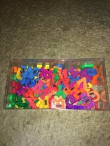 Magnetic plastic numbers and letters in Naperville, Illinois
