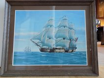 Framed Sailing Ship Poster in Glendale Heights, Illinois