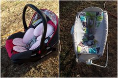 Cradle and carseat in Fort Leonard Wood, Missouri