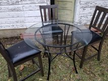 Glass top iron Kitchen table in Fort Polk, Louisiana