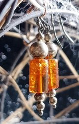 Pretty Earring's with Amber & Silver in Tomball, Texas