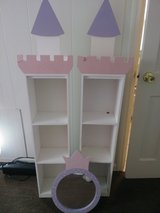 Set of Castle bookshelves with mirror in Byron, Georgia