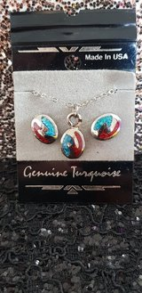 Necklace & Earrings Genuine turquoise in Tomball, Texas