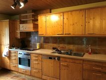 German Kitchen-wood cabinets and appliances. in Hohenfels, Germany