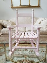 Sturdy Jack Post Children's Pink Wood Rocking Chair in Like New Condition in Chicago, Illinois