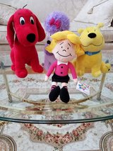 New Condition Clifford The Big Red Dog, T-Bone, Emily Elizabeth and Cleo Plush Set in Chicago, Illinois