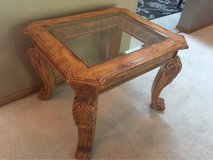 Solid Wood Carved End Table in Joliet, Illinois