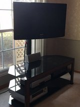 TV Stand with Glass Shelves in Chicago, Illinois