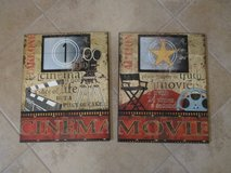 Theater Room Wooden Art Pictures - Set of 2 in Kingwood, Texas