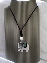 Mother of pearl elephant necklace in Okinawa, Japan