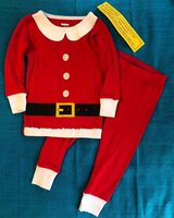 Girls NEW Christmas Santa Size 12 Mos 2 Pc Pajamas Carters in Beaufort, South Carolina