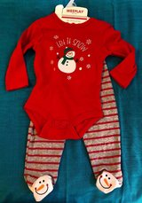NEW Baby Christmas Outfit Set Size 6-9 Months 2 Piece Snowman in Beaufort, South Carolina