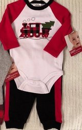 NEW Baby Boy Christmas Outfit 2 Piece Set Size 3 Months TRAIN in Beaufort, South Carolina