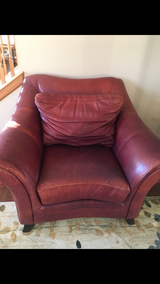 Leather couch & oversized chair in Sugar Grove, Illinois