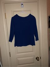 Royal blue Xlarge sweater blouse in Fort Hood, Texas