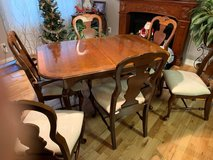 Elegant German Dining Table with 6 chairs and matching China Cabinet in Fort Meade, Maryland