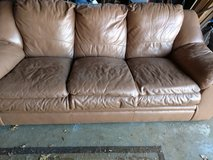 Leather couch in Joliet, Illinois