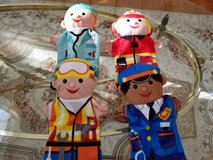 Melissa & Doug Jolly Helpers Hand Puppets (Set of 4) - Construction Worker, Doctor, Police Offic... in Oswego, Illinois
