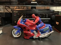 Electric Spiderman on a Motorcycle in Elgin, Illinois