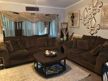 Brown sofa and loveseat in Fort Polk, Louisiana