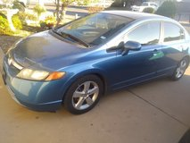 2007 Honda Civic Take over payments Runs well great on gas great condition car blue in El Paso, Texas