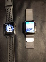IWATCH 1 (on Left) IWATCH 3 WITH GPS AND MAGNETIC BAND Nike Version (on right) in Wiesbaden, GE