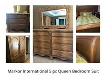 **REDUCED** 5 pc Queen Bedroom Suit (Markor International) in Byron, Georgia