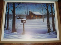 "SIGNED ART PRINT FROM BILL WOLFE 1988 ""DECEMBER DAWN"" in Camp Lejeune, North Carolina"