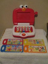 Mattel Talking Learning Elmo Laptop Computer Toy With 4 Cards Works A-Z in Plainfield, Illinois