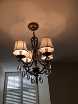 Two Beautiful 4- Light Chandeliers with Shades for Sale in Fort Riley, Kansas