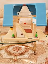 Vintage Little Tikes Blue Roof Doll House With Swing In Excellent Condition in Chicago, Illinois