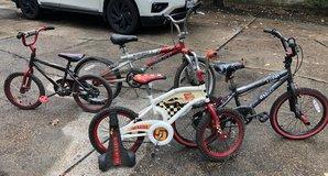 Kids boy bikes from ages 5 to 12 in Kingwood, Texas