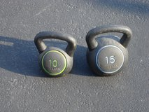 10 AND 15 POUND HANDLE WEIGHTS in Bartlett, Illinois