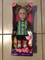 "My Life 18"" Doll Soccer Player Brand New in Box in Travis AFB, California"