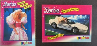 2x Barbie puzzle rarity, 1989, complete (48 pieces + 280 + pieces) in Ramstein, Germany