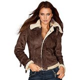 New Laura Scott jacket, faux fur jacket, pilot jacket, Size S in Ramstein, Germany