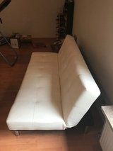 off-white leather futon (and lots more!) in Wiesbaden, GE
