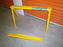Sawhorses in Bellaire, Texas