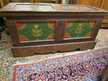 Baroque Chest Softwoods Alsatian Chest Table Painted in Ramstein, Germany