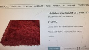 loloi allure shag rug aq-01 5x8garnet in 29 Palms, California