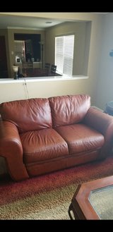 Leather love seat in Katy, Texas