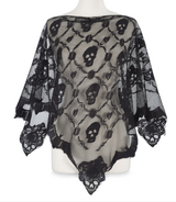Skull lace poncho in Kingwood, Texas