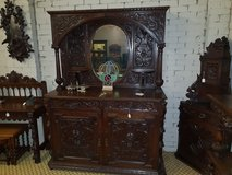 Carved Oak Mirrored Sideboard Free Delivery Others Available in Lakenheath, UK