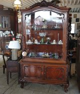 elegant display cabinet with double facetted glass in Spangdahlem, Germany