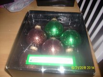 Boxes of Christmas Ornaments in 29 Palms, California