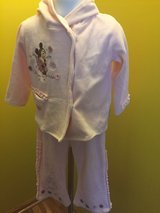 Minnie Mouse Disney pink velvet baby outfit Sz 18m in Naperville, Illinois